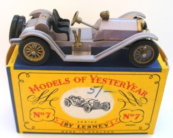 4: Matchbox Yesteryear Y7-1 Mercer Raceabout Lilac body