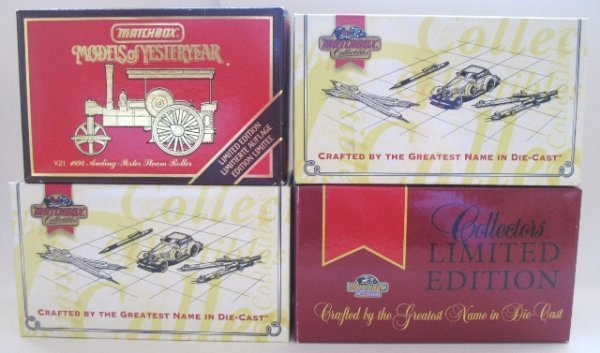 7: 4x Matchbox Yesteryear Limited Edition Steam Engines