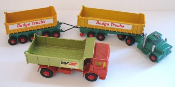 15: 2x Matchbox Kingsize Tipper Trucks