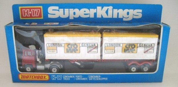 20: Matchbox Superkings K-17 Container Truck - CROWE