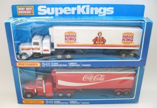 22: 2x Matchbox Superkings K-31 Peterbilt