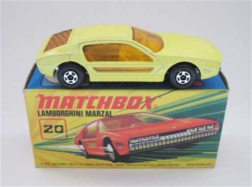 124 Matchbox Superfast 20a Lamborghini Marzal Yellow