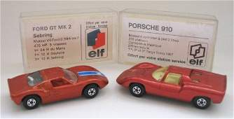 324: 2x Matchbox Superfast FRENCH ELF BOXES