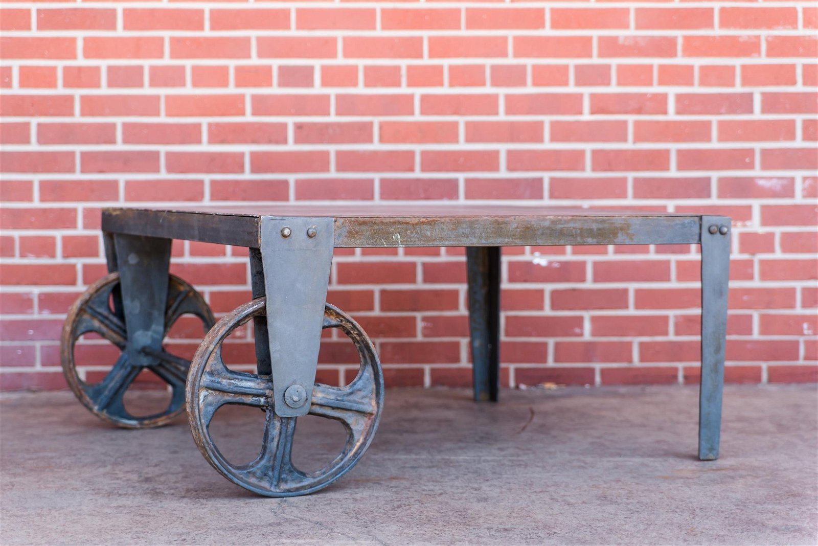 Industrial Iron Dolly Cart