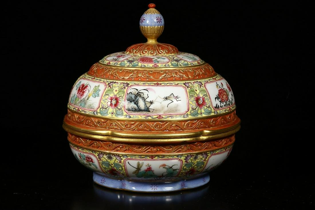 ENAMELLED SNACK CONTAINER, QING QIANLONG PERIOD