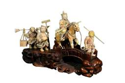 RARE MATERIAL ORNAMENT OF JOURNEY TO THE WEST