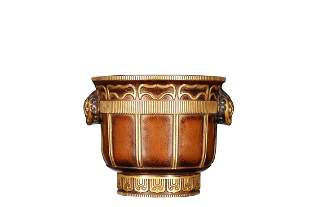 PARCEL GILT COPPER ALLOY CENSER WITH HANDLES`