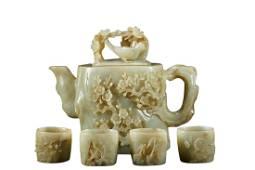 HETIAN JADE TEA  SET