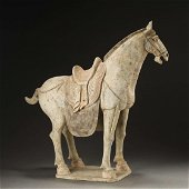 TANG DYNASTY,CHINESE SANCAI-GLAZED POTTERY HORSE
