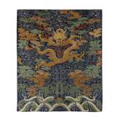 QING DYNASTYBLUE GROUND KESI DRAGON PANEL