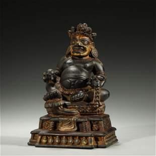 ANCIENT TIBETAN,STONE CARVED BUDDHA STATUE