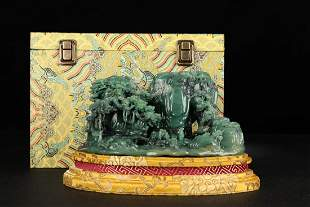 ANCIENT CHINESE,GREEN STONE ORNAMENT