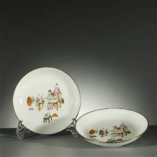 QING DYNASTY,A PAIR OF FAMILLE-ROSE DISHS