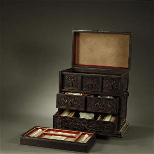 QING DYNASTY,A SET OF HETIAN JADE STATIONERY