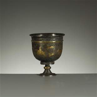 LIAO/JIN DYNASTY,PARCEL-GILT SILVER CUP