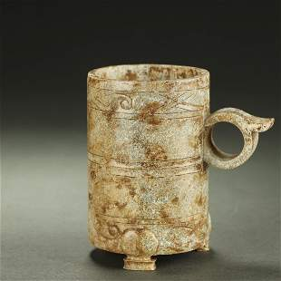 WARRING STATES PERIOD,JADE CARVED CUP
