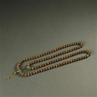 QING DYNASTY,CHENXIANG WOOD NECKLACE