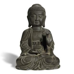 ANCIENT CHINESE,BRONZE BUDDHA STATUE