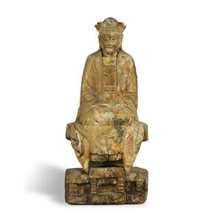QING DYNASTY,WOOD CARVING BUDDHA STATUE