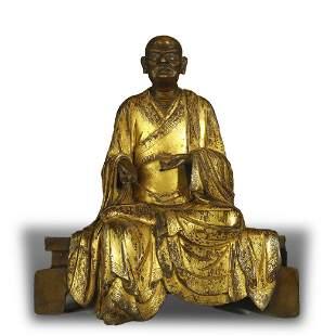 GILT-BRONZE BUDDHA STATUE,QING DYNASTY