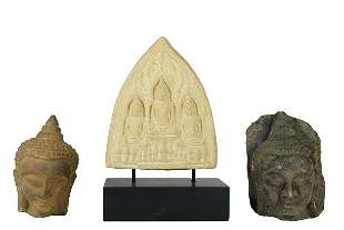 Three Stone Deity Figures