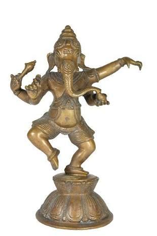 Indian Bronze Figure Of Ganesha