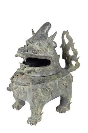 "A Chinese Bronze Buddhist""Lu Duan""Censer"