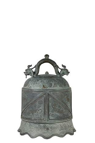 A Large Chinese Bronze Bell