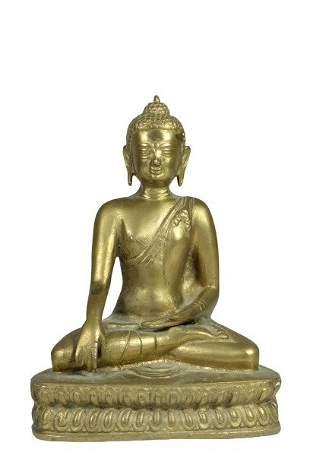 Asian Gilt Bronze Buddha Figurine