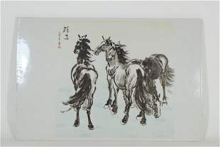 20TH CENTURY,Chinese White Porcelain horses