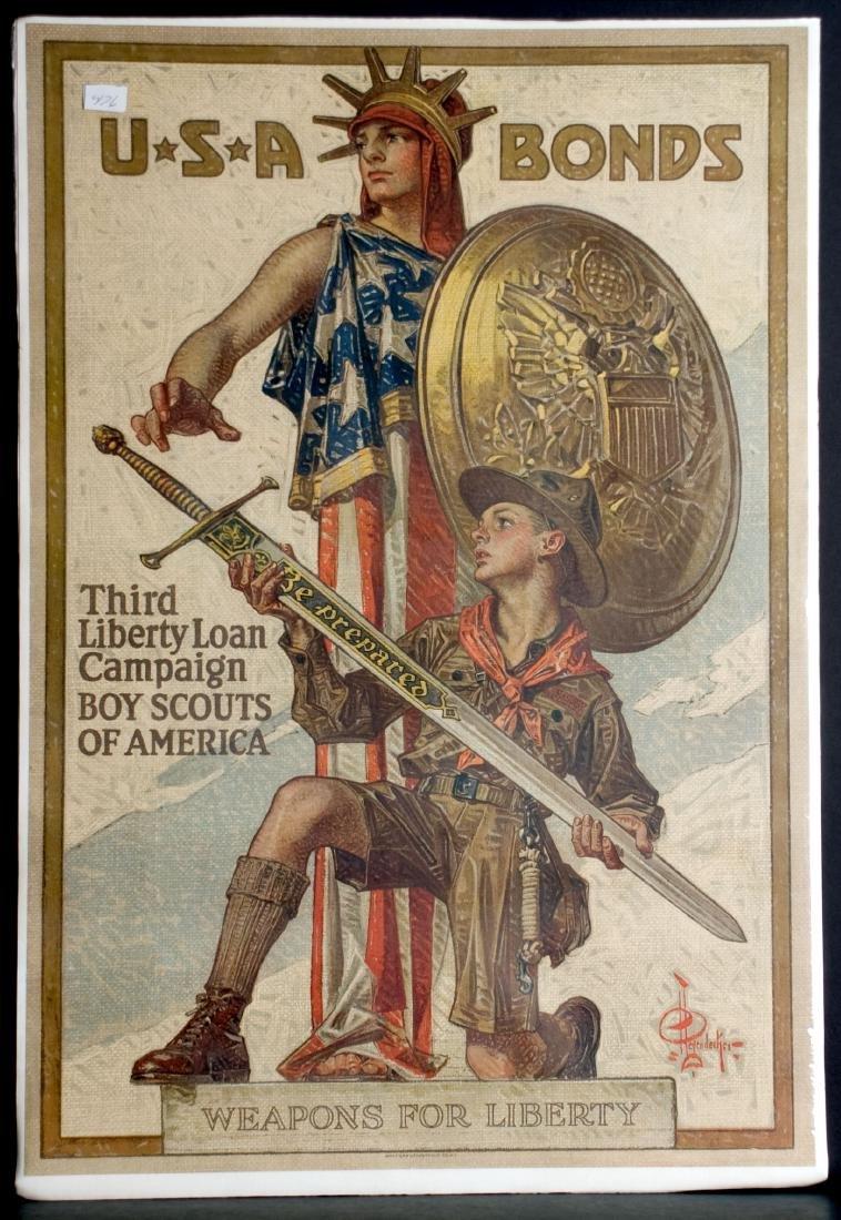 War - USA Bonds  Third Liberty Loan Campaign Boy Scouts