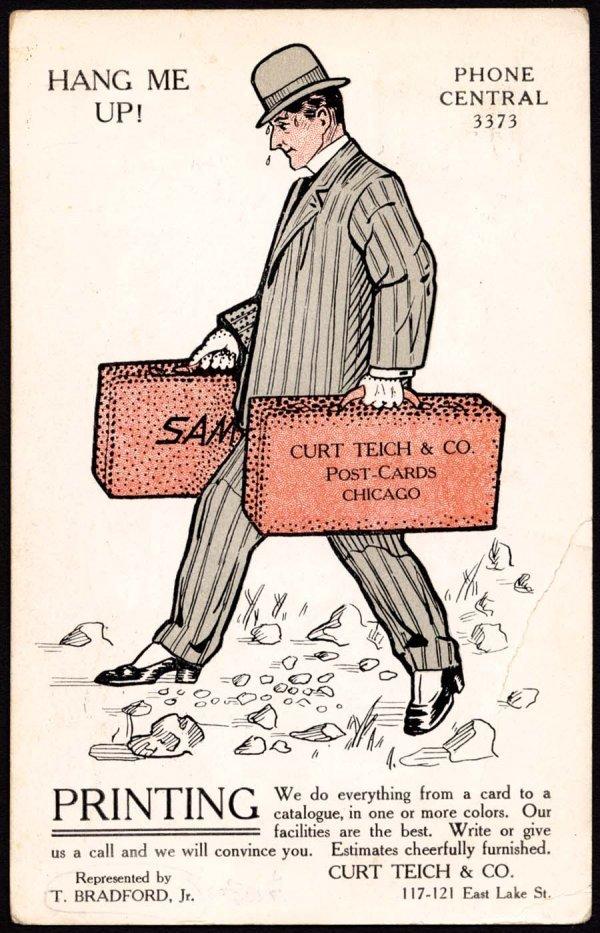 1: Curt Teich Salesman Postcard