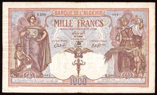 2: Algeria   Banquedel'Algerie   83a1000Francs