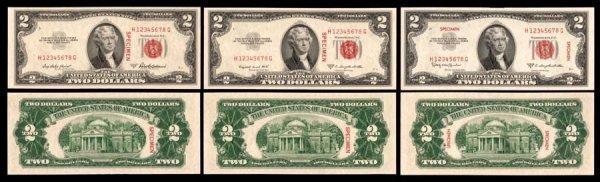 1111:    $21953-A.1953-B&1953-CSpecimen   B