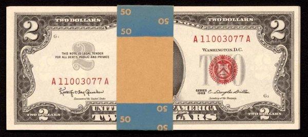 1115: $21963   Thisgroupof16$2billsisfroma
