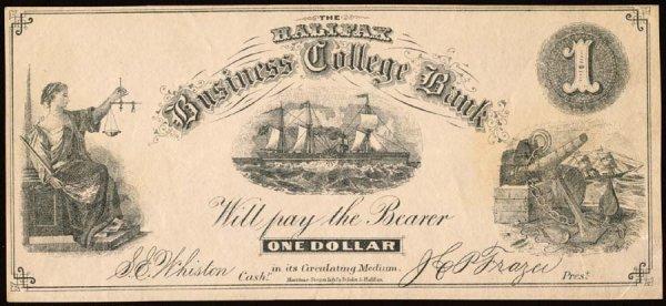 1194A: College Currency    Nova Scotia