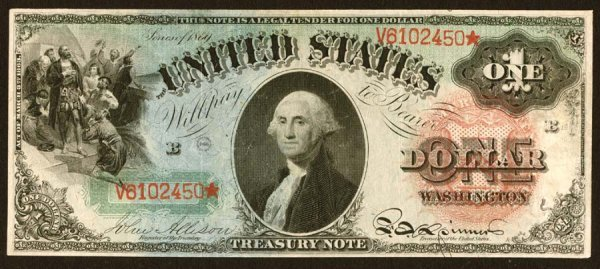 6:     Legal Tender     Fr. 18    $1    1869     This n