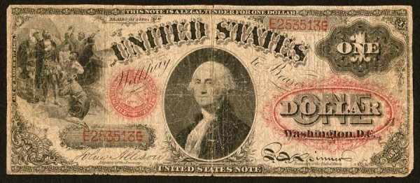 9:     Legal Tender     Fr. 19    $1    1874     A well