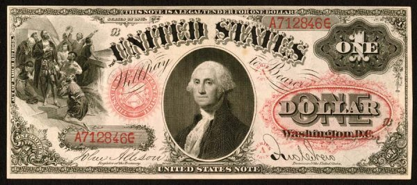 10:     Legal Tender     Fr. 21    $1    1875    Series