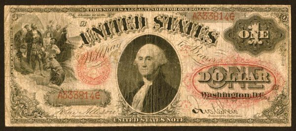 11:     Legal Tender     Fr. 21    $1    1875   Series