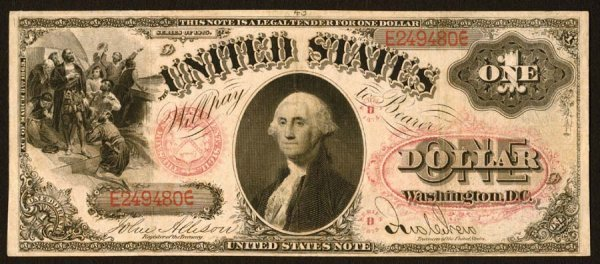 12:     Legal Tender     Fr. 24    $1    1875    Series