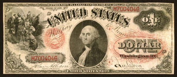 13: Legal Tender     Fr. 25    $1    1875    Series E