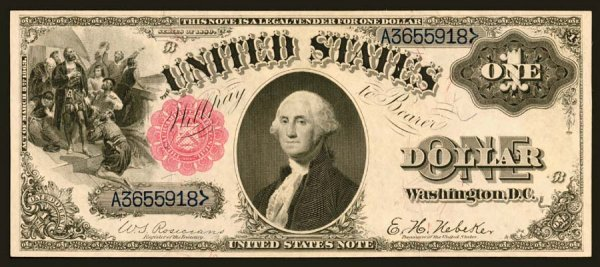 18:     Legal Tender     Fr. 34    $1    1880     We ar