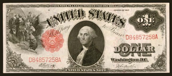 20: Legal Tender     Fr. 37    $1    1917     An early