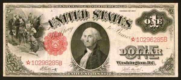 22:     Legal Tender     Fr. 37*    $1    1917     This