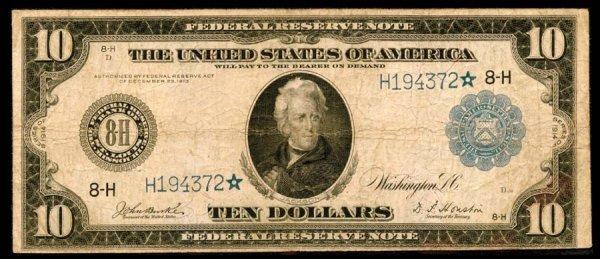 454:     Federal Reserve Notes    Fr.934*$101