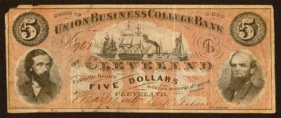 1492: College Currency Ohio $5 Union Busines