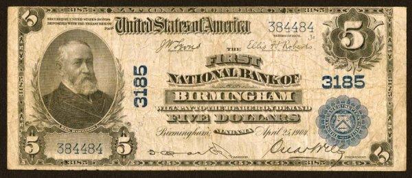 1601: Alabama    Birmingham,FirstNB,3185    Fr.59