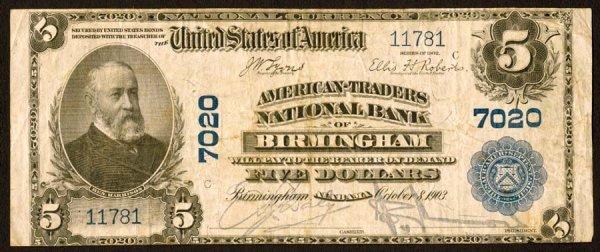 1603: Alabama    Birmingham,American-TradersNB,7020