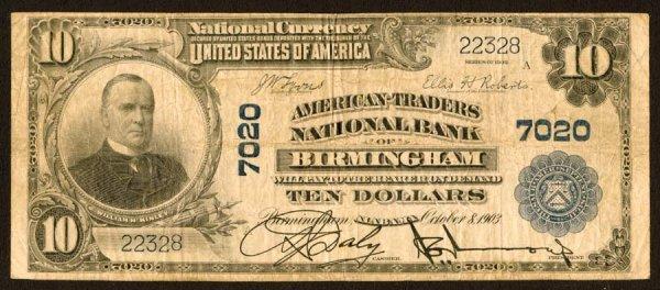 1604: Alabama    Birmingham,American-TradersNB,7020